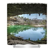 Hamilton Pool Shower Curtain by David Morefield