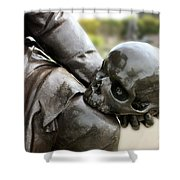 Hamlet Contemplating The Skull  Shower Curtain by Terri Waters