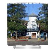 Hamlet Square Solvang California Shower Curtain