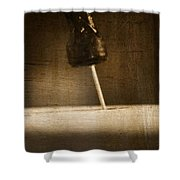 Hammer And A Nail Shower Curtain