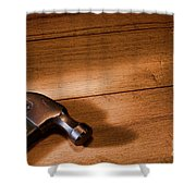 Hammer On Wood Shower Curtain
