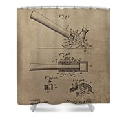 Hammer Patent Drawing Shower Curtain