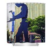 Hammering Man Shower Curtain