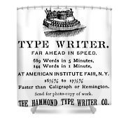 Hammond Typewriter, 1889 Shower Curtain