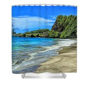 Hamoa Beach At Hana Maui Shower Curtain