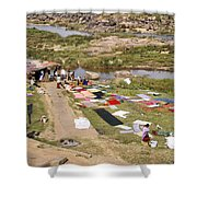 Hampi Bathing Ghats Shower Curtain