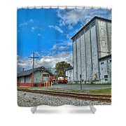 Hampstead Train Station And Grain Mill Shower Curtain