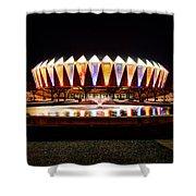 Hampton Coliseum Christmas Shower Curtain