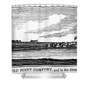Hampton, Virginia Forts Shower Curtain