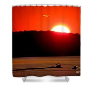 Hamptons Sunset Shower Curtain
