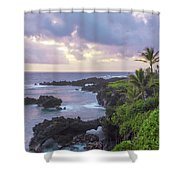 Hana Arches Sunrise 3 - Maui Hawaii Shower Curtain