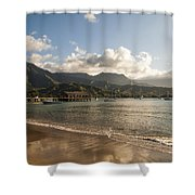 Hanalei Bay Pier - Kauai Hawaii Shower Curtain