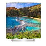 Hanauma Bay In Hawaii Shower Curtain