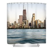 Hancock Building And Chicago Skyline Shower Curtain