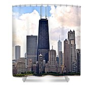 Hancock Building In Chicago Shower Curtain