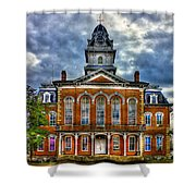 Before It Burned Hancock County Courthouse Art Shower Curtain