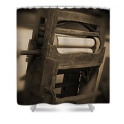 Hand Clothes Wringer Shower Curtain