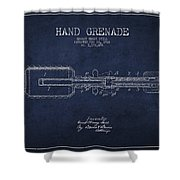 Hand Grenade Patent Drawing From 1916 Shower Curtain