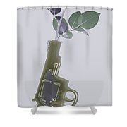 Hand Gun And Flower X-ray Series 1 Shower Curtain