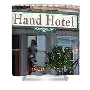 Hand Hotel Shower Curtain