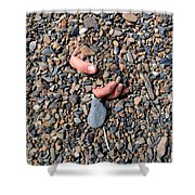 Hand In Gravel Shower Curtain by Stephan Pietzko