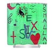 Hand In Hand We Stand Shower Curtain