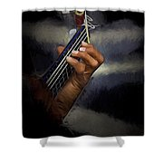 Hand Of A Spanish Guitarist Shower Curtain