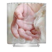 Hand Of An Angel Shower Curtain