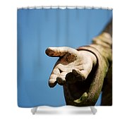 Hand Of Christ. Shower Curtain