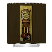 Hand Painted Clockwith Chimes Shower Curtain