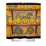 Hand-painted Souvenir From Sicily Shower Curtain