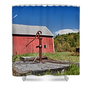 Hand Pump Shower Curtain