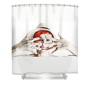 Hand Smile  Shower Curtain