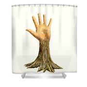 Hand Tree Shower Curtain