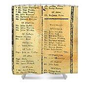 Handbill: Casualties, 1775 Shower Curtain