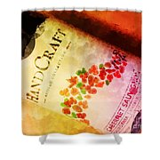 Handcraft Cabernet Sauvignon Shower Curtain by Mary Machare