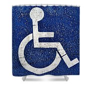 Handicapped Symbol Shower Curtain