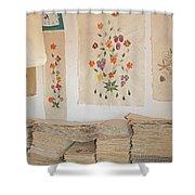 handmade paper from Madagascar 1 Shower Curtain