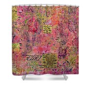 Hands Of Fatima With Crescent Moon And Stars Shower Curtain