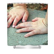 Hands Of Our Future Shower Curtain