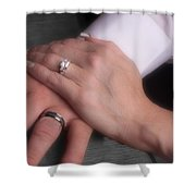 Hands With Wedding Rings Shower Curtain