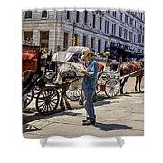 Handsome Hansom Driver  Shower Curtain
