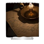 Handwritten Letter By Candle Light Shower Curtain