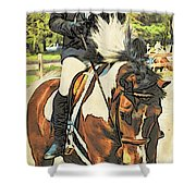 Hang On Tight To Your Painted Horse Shower Curtain