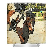 Hang On To Your Painted Horse Shower Curtain