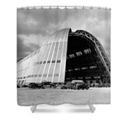 Hangar One At Moffett Field Shower Curtain by Underwood Archives
