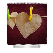 Hanged Heart Shower Curtain