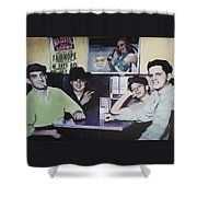 Hanging At The Diner 1949 Shower Curtain