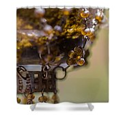 Hanging Beaded Votive Abstract 2 Shower Curtain