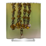 Hanging Beaded Votive Abstract  3 Shower Curtain
